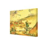 Mont Sainte Victoire por Cezanne, bella arte del Impresión En Lona Estirada