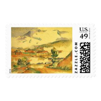 Mont Sainte Victoire por Cezanne, bella arte del Sellos
