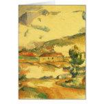 Mont Sainte Victoire por Cezanne, bella arte del Tarjeta De Felicitación