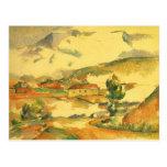 Mont Sainte Victoire por Cezanne, bella arte del Postal