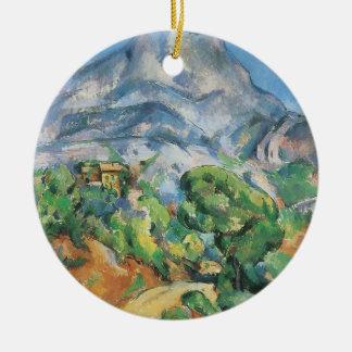 Mont Sainte Victoire sobre el Tholonet por Cezanne Ornamento De Navidad