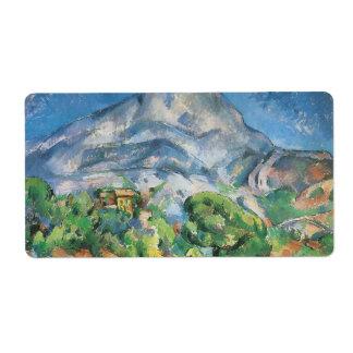 Mont Sainte Victoire sobre el Tholonet por Cezanne Etiquetas De Envío