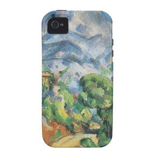 Mont Sainte Victoire sobre el Tholonet por Cezanne iPhone 4 Carcasa