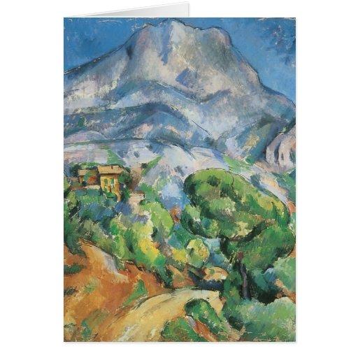Mont Sainte Victoire sobre el Tholonet por Cezanne Tarjeta De Felicitación