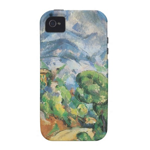 Mont Sainte Victoire sobre Tholonet, Paul Cezanne iPhone 4 Funda