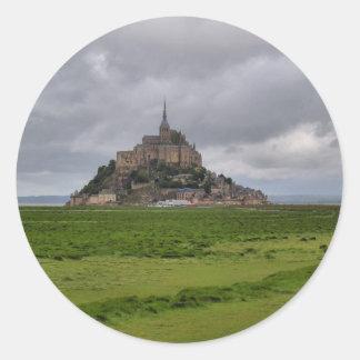 Mont St Michel Classic Round Sticker