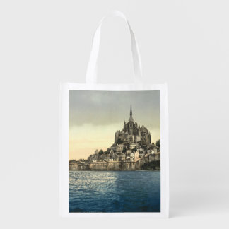 Mont St Michel II, Normandy, France Grocery Bags