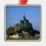 Mont St Michel, Manche, Normandy, France Christmas Tree Ornaments