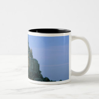Mont St Michel, Manche, Normandy, France Two-Tone Coffee Mug