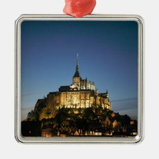 Mont St Michel Metal Ornament