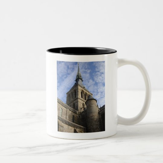 Mont St Michel Spire Two-Tone Coffee Mug
