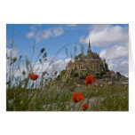 Mont St Michele through the poppies Card