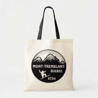 Mont Tremblant Quebec black snowboard art bag
