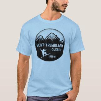Mont Tremblant Quebec blue snowboard art guys tee