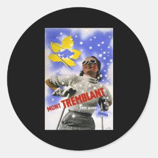 Mont Tremblant Quebec Canada Classic Round Sticker