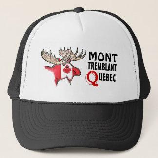 Mont Tremblant Quebec elk flag art hat