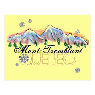 Mont Tremblant Quebec mountain scenery postcard