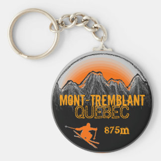 Mont Tremblant Quebec orange ski keychain