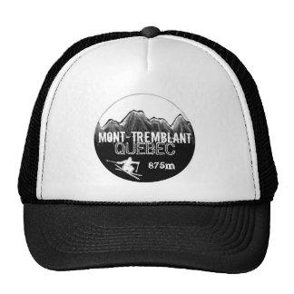Mont Tremblant Quebec ski black white hat