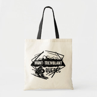 Mont Tremblant Quebec ski logo reusable bag