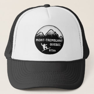 Mont Tremblant Quebec snowboard art hat