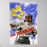 """Mont Tremblant"" Vintage Travel Poster"