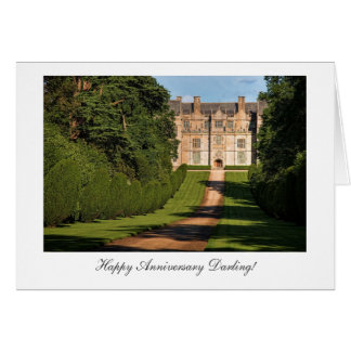Montacute Stately Home - Happy Anniversay Darling Greeting Card