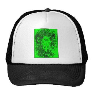 Montado picó bosquejo del lápiz en verde gorras de camionero