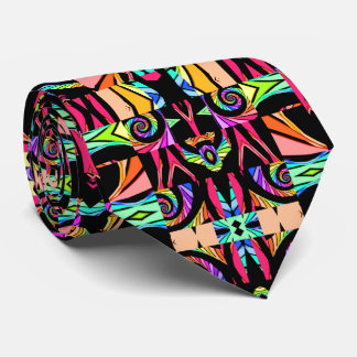 Montage Fractal Neck Tie