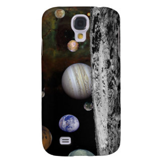 Montage of the planets and Jupiter's moons Samsung Galaxy S4 Cover