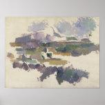 Montagne Sainte-Victoire, 1904-05 Póster