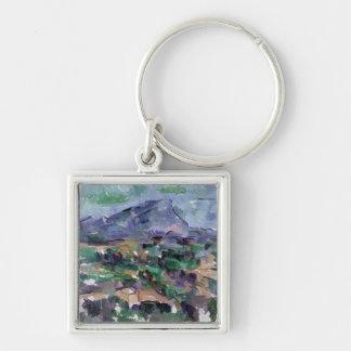 Montagne Sainte-Victoire, 1904-06 Silver-Colored Square Keychain