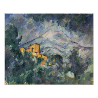 Montagne Sainte-Victoire and the Black Chateau Poster