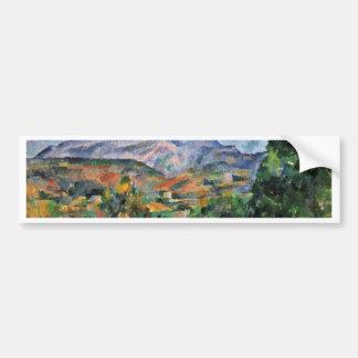 Montagne Sainte-Victoire By Paul Cézanne Car Bumper Sticker