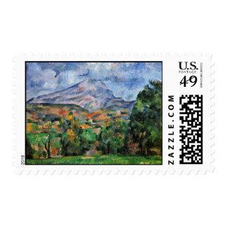 Montagne Sainte-Victoire By Paul Cézanne Stamp