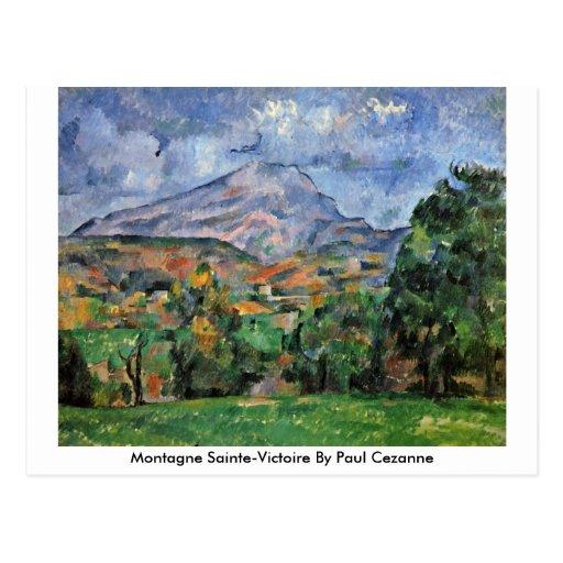 Montagne Sainte-Victoire de Paul Cezanne Postal