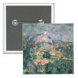 Montagne Sainte-Victoire from Lauves, 1904-06 2 Inch Square Button