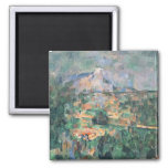 Montagne Sainte-Victoire from Lauves, 1904-06 Fridge Magnet