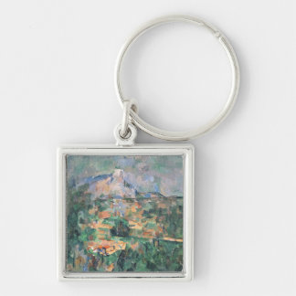 Montagne Sainte-Victoire from Lauves, 1904-06 Silver-Colored Square Keychain