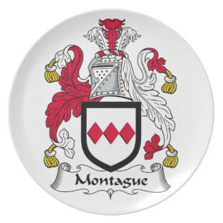 Montague Family Crest Dinner Plate