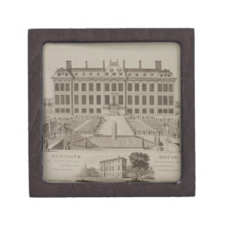 Montague House, now the British Museum, 1813 (engr Premium Jewelry Box