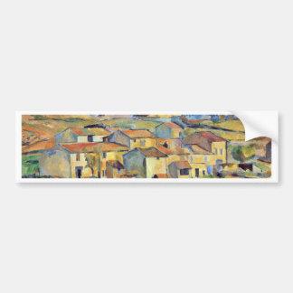 Montaigne Sainte-Victoire From The Environment Car Bumper Sticker