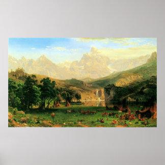 Montains rocoso en el pico del Lander por Bierstad Posters