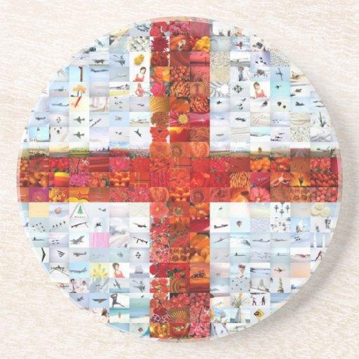 Montaje de la bandera de Inglaterra Posavasos Cerveza