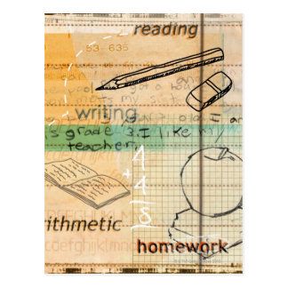 Montaje de la educación de la niñez postales