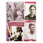 Montaje de la foto de Frida Kahlo Libreta Espiral