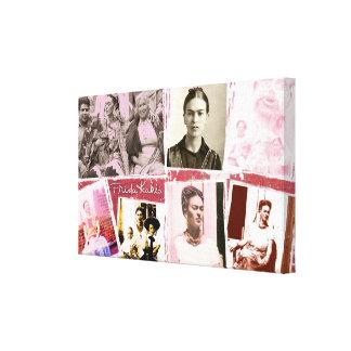 Montaje de la foto de Frida Kahlo Impresión En Lona