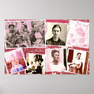 Montaje de la foto de Frida Kahlo Poster
