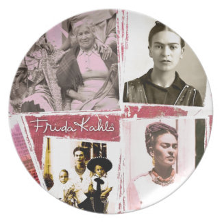 Montaje de la foto de Frida Kahlo Plato De Cena