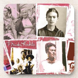 Montaje de la foto de Frida Kahlo Posavasos De Bebidas